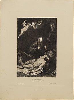 ETSNINGAR, 7 st, utgivna av Ludwig Angerer Berin ca 1880.