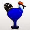 Oiva toikka, fÅgel, jubileumstupp, signerad o toikka nuutajärvi. birds by toikka 25 års jubileumsfågel