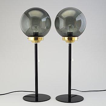 UNO & ÖSTEN KRISTIANSSON, ett par, bordslampor, Luxus, 1900-talets andra hälft.
