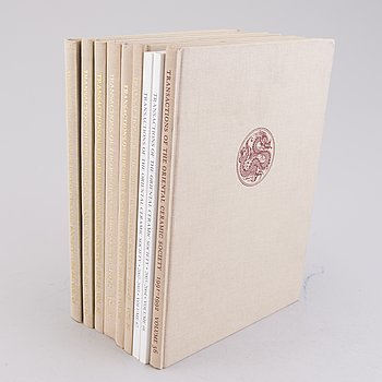 BOOKS, 9 pieces, Transactions of the Oriental Ceramic Society, London 1991-2004.