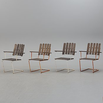 A set of four garden chairs by Grythyttan.