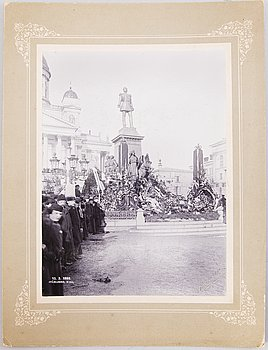 An Imperial Russian photograph and silver table medal, latter half of 19th Century.