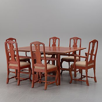 A 7 piece 20th century furniture suite.