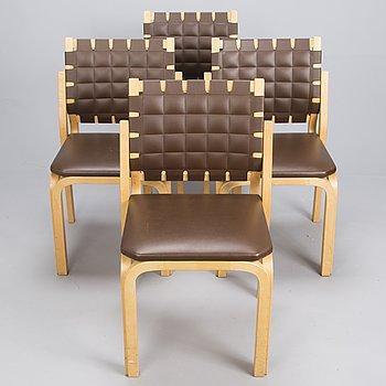 ALVAR AALTO, stolar, 4 st, modell 612, Artek, 1960-tal.