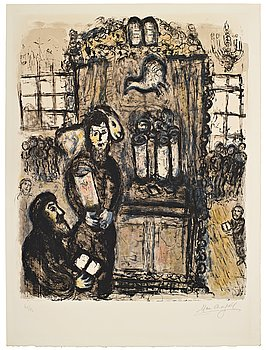 "580. MARC CHAGALL, ""Le temple""."