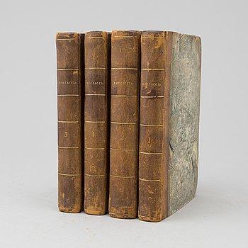 BÖCKER, 4 volymer. Decamerone på italienska, 1789-90.