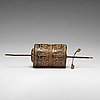 A tibetan prayer wheel, 18/19th century.