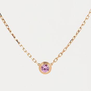 CARTIER, Collier, 'Saphirs Légers de Cartier'. 18K roséguld med rosa safir.