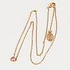 A cartier 'saphirs légers de cartier' 18k pink gold and pink sapphire necklace.