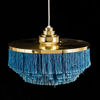 A brass ceiling lamp by Hans-Agne Jakobsson, Markaryd, late 20th century.