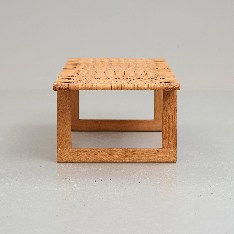 Borge Mogensen An Oak And Rattan Bench Cabinetmaker Erhard