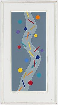 KG NILSON, färglitografi, signerad, daterad 1986, numrerad 78/120.