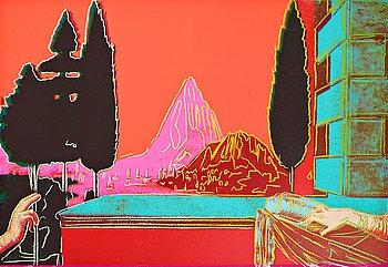 """319. Andy Warhol, """"Leonardo da Vinci, The Annunciation""""."""