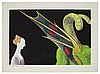 """Andy warhol, """"paolo uccello, st george and the dragon""""."""