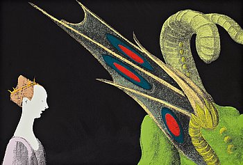 """320. Andy Warhol, """"Paolo Uccello, St George and the Dragon""""."""