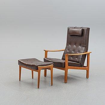 BRÖDERNA ANDERSSON, an easy chair with ottoman.