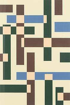 SAM VANNI, serigrafi, signerad och daterad -89, numrerad 40/75.