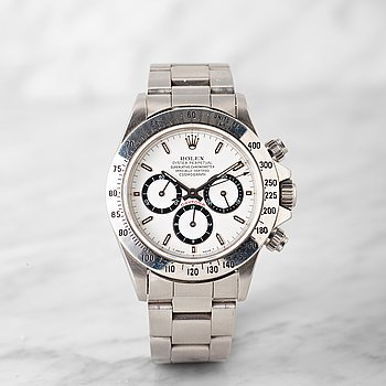 "38. ROLEX, Daytona, chronograph, ""225 Bezel"", ""inverted 6""."