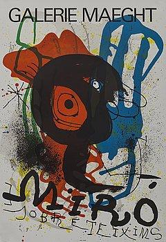 JOAN MIRÓ,färglitografisk affisch, Galerie Maeght, Paris 1973, tryckt hos Arte Adrien Maeght i 7000 ex.