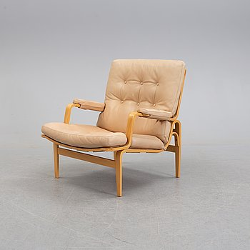 BRUNO MATHSSON, an 'Ingrid' beech easy chair from Dux.