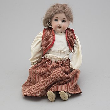 A bisque head doll, Armand Marseille Germany, early 20th century.