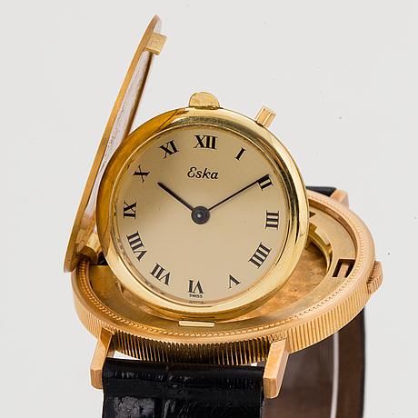 "Eska, coin watch ""twenty dollars"", wristwatch, 35 mm"