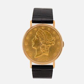 "ESKA, Coin Watch ""Twenty Dollars"", wristwatch, 35 mm."