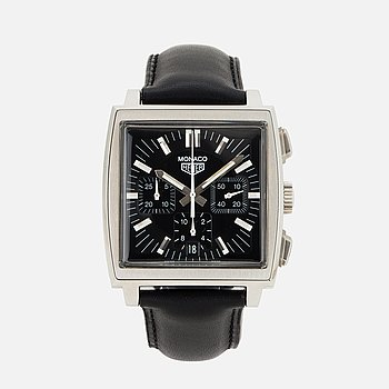 HEUER, Monaco, kronograf, armbandsur, 38 x 38 (46,5) mm.