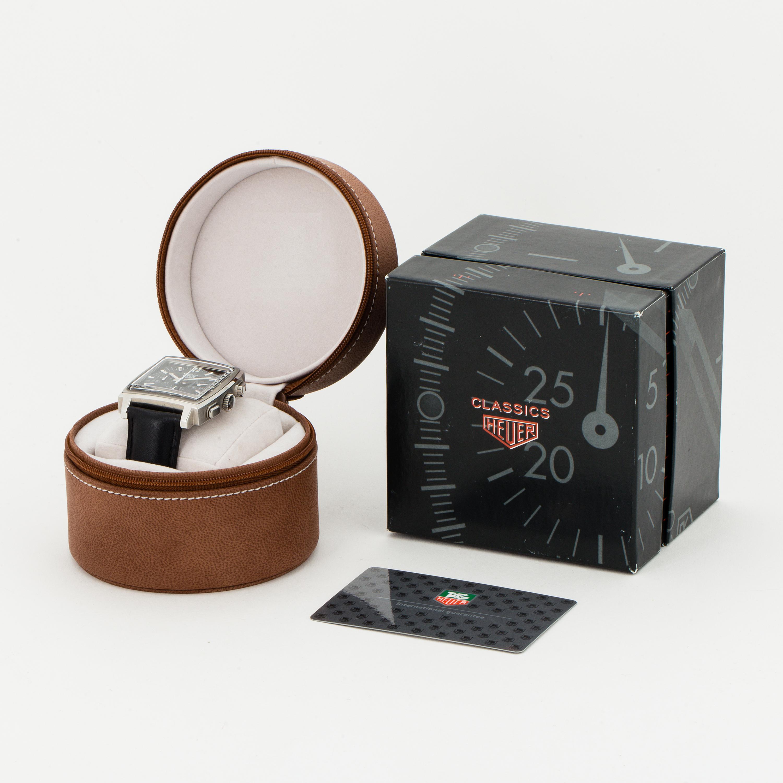 HEUER, Monaco, chronograph, wristwatch, 38 x 38 (46,5) mm