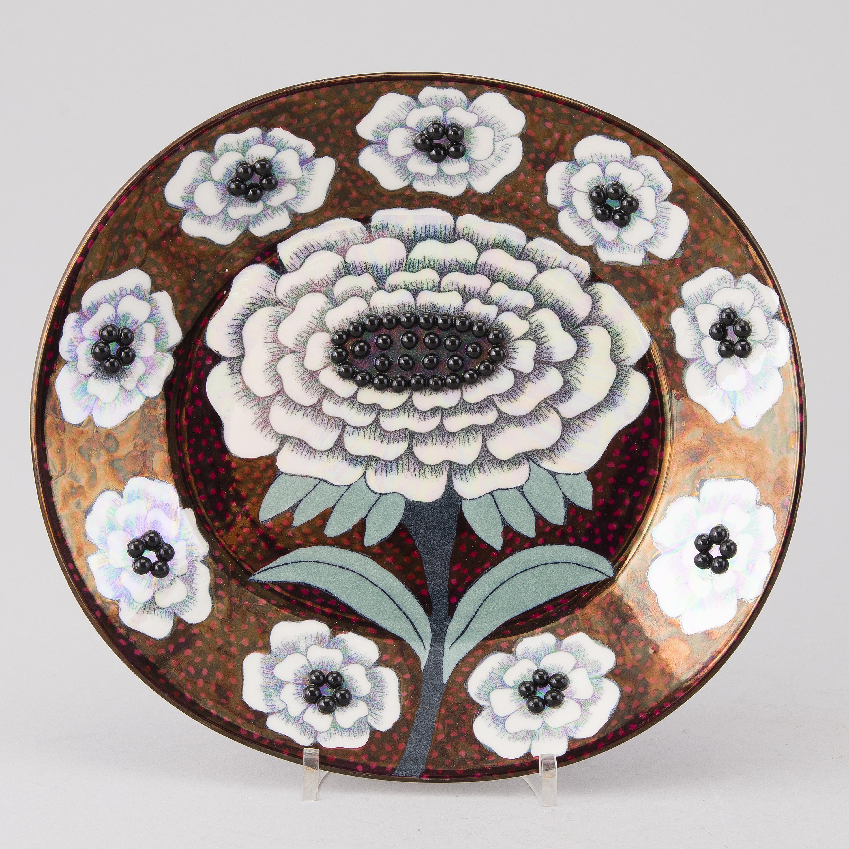 BIRGER KAIPIAINEN, a 'Fiori' wall plate, Arabia Art Made in