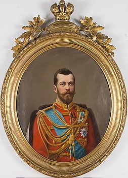 A PORTRAIT, oil on canvas, c. 1900, signed Reztcov.