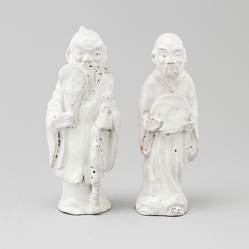 Two earthenware figurines, 20th century.
