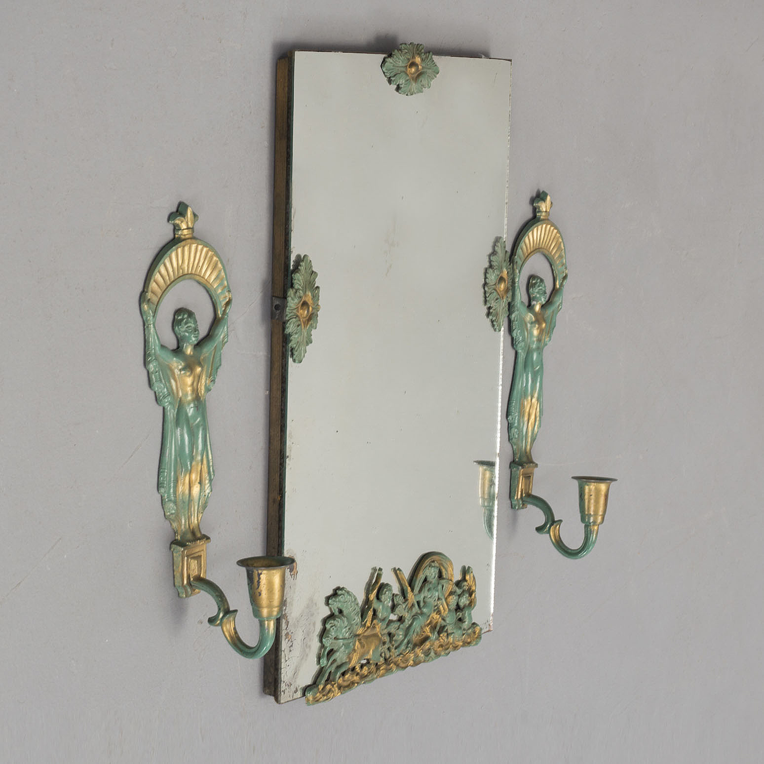 A Pair Of 1930s Wall Sconces And A Mirror Bukowskis