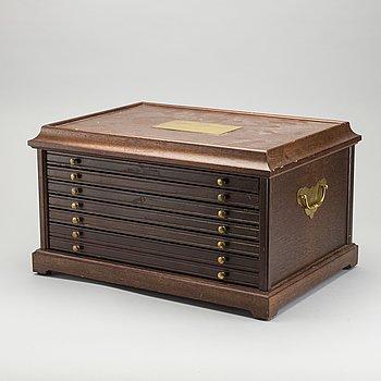 """MYNT / MEDALJER, 100 st, sterlingsilver, Franklin Mint,""""De 100 största mästerverken"""". I schatull."""