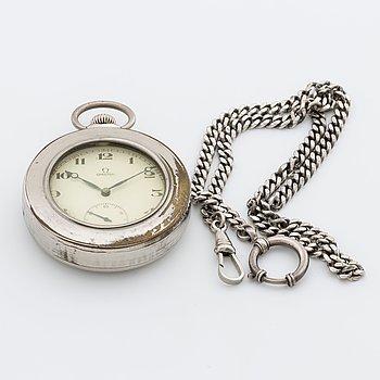 OMEGA, fickur, silver, 52 mm, 1900-talets början.