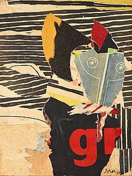 """414. Asger Jorn, """"Le grand GR-solitaire""""."""