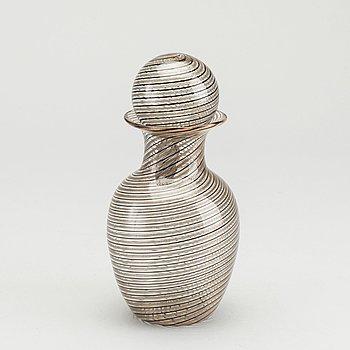 ONESTO VETRERIA OBALL, flakong glas Italien 1900-talets mitt/andra hälft.