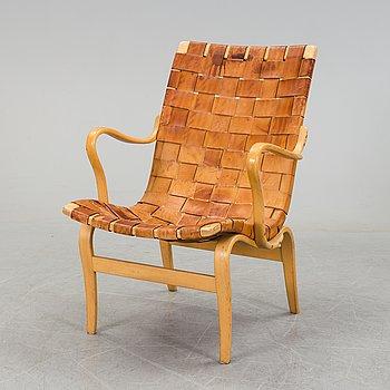 """BRUNO MATHSSON, fåtölj, """"Eva"""",  för firma Karl Mathsson, Värnamo, 1966."""