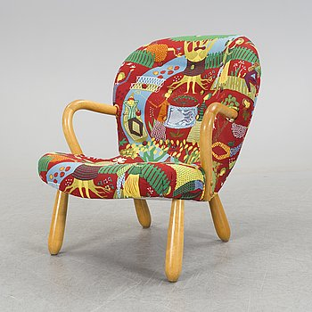 "PHILIP ARCTANDER, fåtölj, ""Clam Chair""/""Muslinge"", 1940/50-tal."