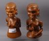 Skulpturer, trä, troligen västafrika, 1900-talets mitt.