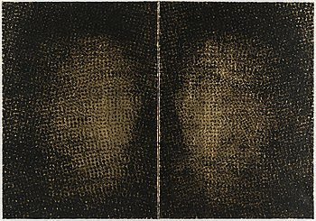 JAN SVENUNGSSON, diptych, oil on canvas, signed and dated 1990 verso.