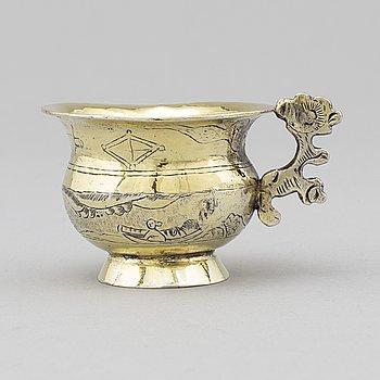 A Russian 18th century silver-gilt charka.