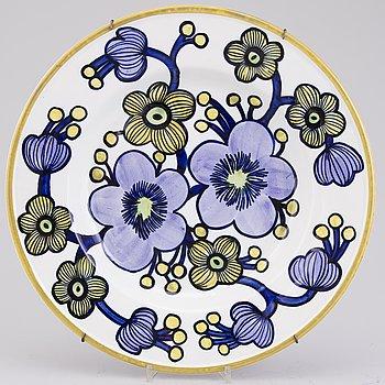 RAIJA UOSIKKINEN, DEKORATIONSFAT, keramik, signerad Arabia R Uosikkinen -71.