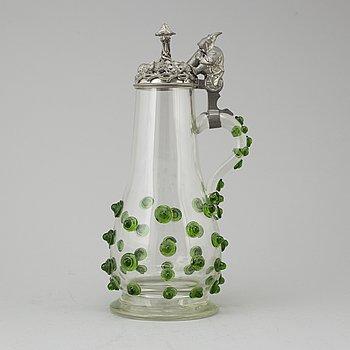 KANNA, glas och tenn, Tyskland, 1800-talets slut.