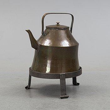 A 19th century copper vessel.