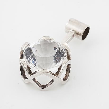 Karl ingemar johansson, göteborg, 1971, a faceted rock crystal pendant