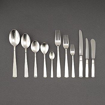 "BESTICKSERVIS, 110 delar, ""Rosenholm"", silver, GAB, Stockholm/Eskilstuna, 1950- 2000-tal."