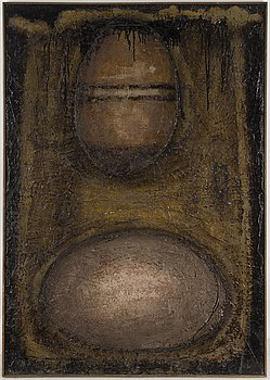 ALBERT JOHANSSON, oil on panel, signed and dated 1959-60, 62.