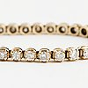 Tennis bracelet, 14k gold with 48 diamonds approx. 2.40 cts.