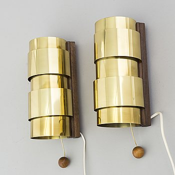 HANS-AGNE JAKOBSSON, wall-lights, a pair, second half of the 20th century.